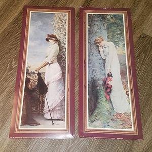 2 Vintage Victorian 90s Women Pictures